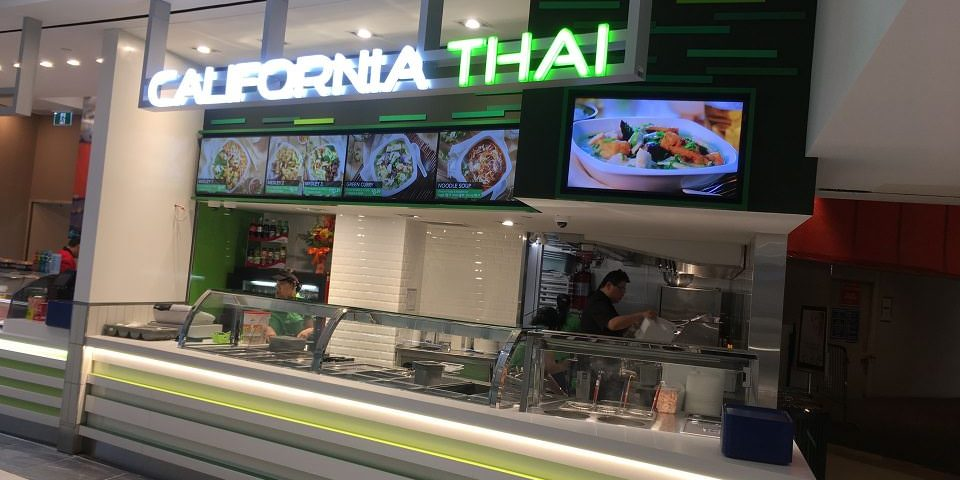 Digital Menu Board Video Wall Impact and attracting viewers showing videos covering multiple screens at California Thai located in Centretown, Ottawa